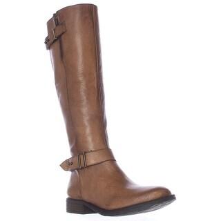 Steve Madden Alyy Tall Engineer Boots - Cognac