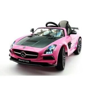 Moderno Kids Mercedes SLS AMG Final Edition 12V Kids Ride-On Car with Parental Remote - Pink