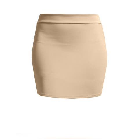 NE PEOPLE Women's Basic Stretch Mini Sexy Pencil Skirt [NEWWSK09]