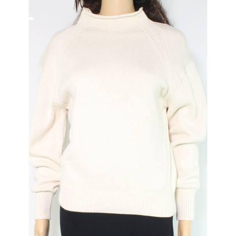 525 America Women's Sweater Beige Size Large L Pullover Mock Neck