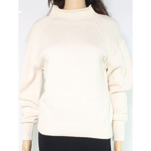 525 America Women's Sweater Beige Size XS Pullover Mock Neck Knit