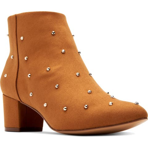 Katy Perry Womens The Auora Ankle Boots Faux Suede Booties