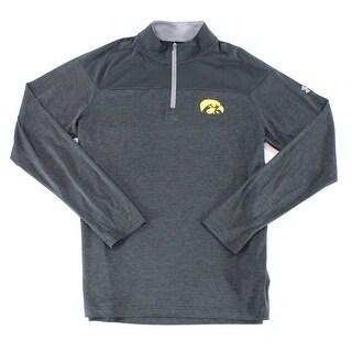 Under Armour NEW Black Mens Size Large L Iowa Hawkeyes 1/2 Zip Jacket