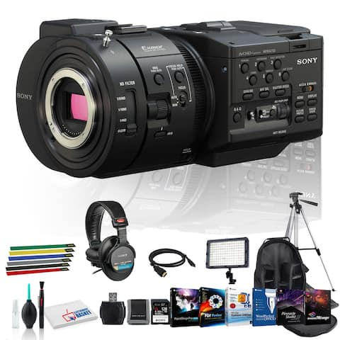 Sony NEX-FS700R Camcorder with Lens Cleaning Kit, 128GB Memory Kit,