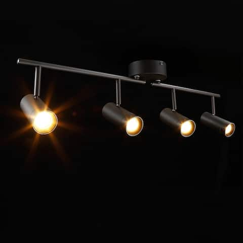 4-in-1 LED Dimmable Track Light Kit, 28W Ceiling Spot Lighting, 2700K Soft White