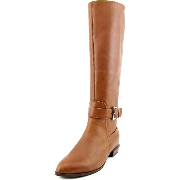 Nine West Diablo Pointed Toe Leather Knee High Boot