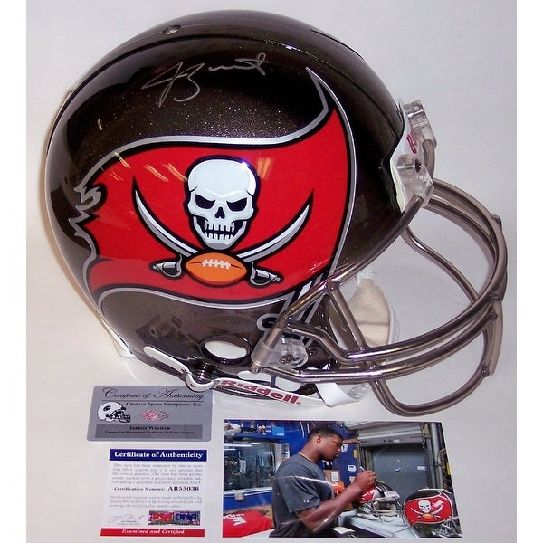 521a0110 Jameis Winston Autographed Hand Signed Tampa Bay Bucs Buccaneers Full Size  Authentic Helmet - PSA/DNA