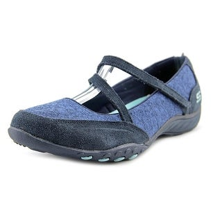 Skechers Breathe Easy - Miss Me Women Round Toe Suede Blue Flats