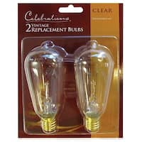Celebrations 10006-71 Edison Style Replacement Bulbs, 7 Watts, Clear