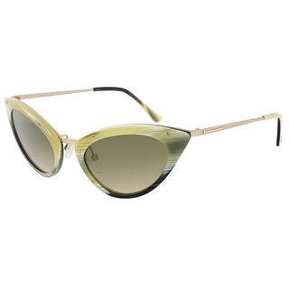 Tom Ford FT0349/S 64J Grace Olive Horn Cateye Sunglasses