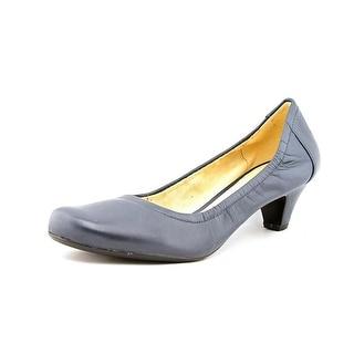 Naturalizer Stargaze Women Round Toe Leather Blue Heels
