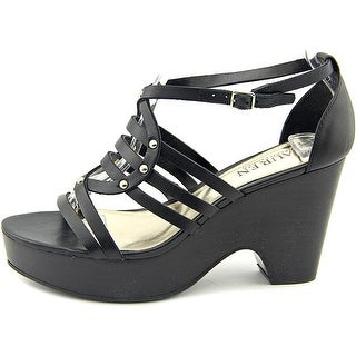 LAUREN by Ralph Lauren Womens Raegan Leather Open Toe Special Occasion Strapp...