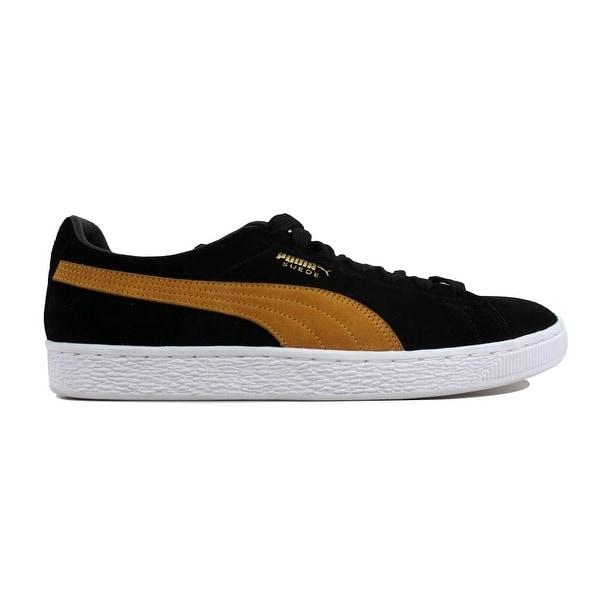 best loved e3ad2 3c6be Shop Puma Men's Suede Classic + Puma Black/Inca Gold 363242 ...