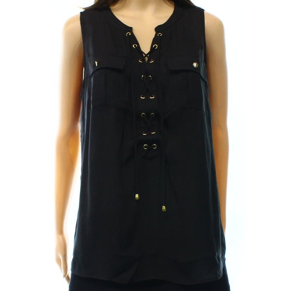 02df1efcda604 Shop INC NEW Black Lace-Up Utility Women s Size Small S Tank Cami Top - On  Sale - Free Shipping On Orders Over  45 - Overstock.com - 16773716