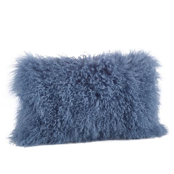 Shop Poly-Filled Mongolian Lamb Throw Pillow - 10694023