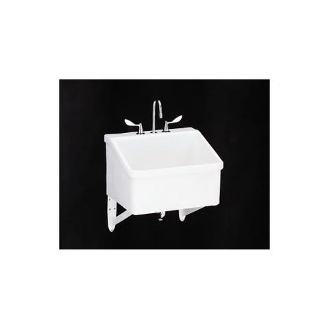 """Kohler K-12794 Hollister Utility Sink with Three Faucet Holes at 8"""" Centers"""