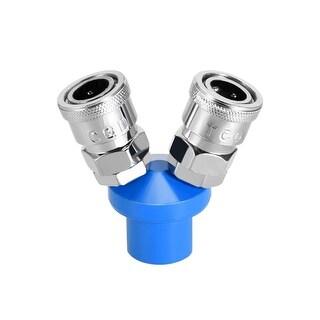 """1/4"""" G Thread 2 Way Air Hose Quick Coupler Pass Air Hose Coupling Tool 2Pcs - 2 Ways 1/4"""" G 2pcs"""