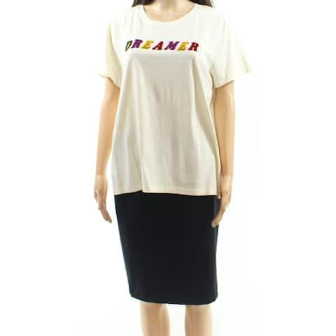 Madewell Beige Multi Women's Size XXS Velvet Dreamer T-Shirt Top