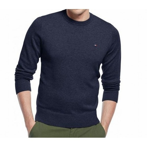04dfc42c8 Shop Tommy Hilfiger NEW Blue Navy Mens Size XS Heather Crewneck Sweater -  Free Shipping On Orders Over $45 - Overstock - 19551936