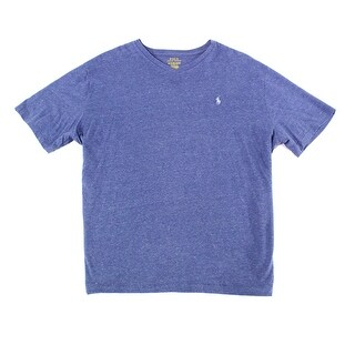 Polo Ralph Lauren Heather Mens Large V Neck Tee T-Shirt