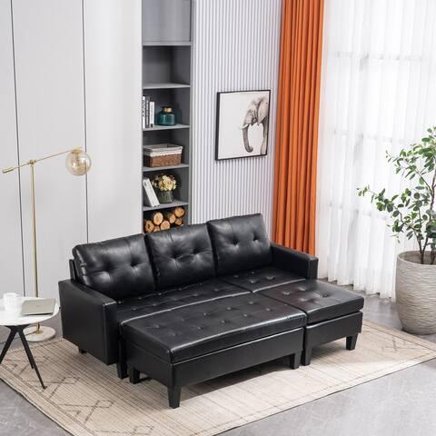 L-shaped Variable Combination Three-Seat Sofa