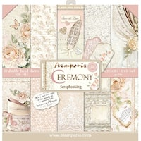 "Stamperia Double-Sided Paper Pad 12""X12"" 10/Pkg-Ceremony, 10 Designs/1 Each"