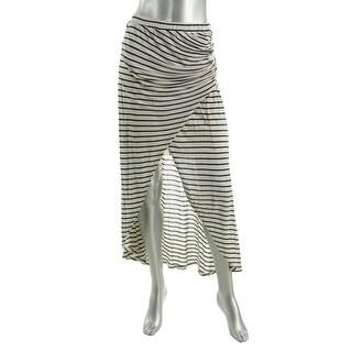 Ella Moss Womens Stretch Striped Maxi Skirt - S