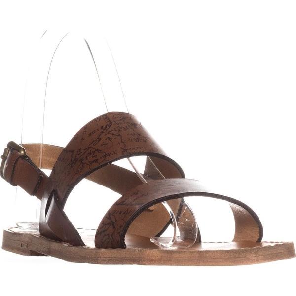 Patricia Nash Elda Slingback Flat Sandals, Riot Rust - 6 us / 36 eu