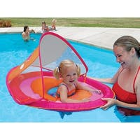 "36"" Pink and Orange Swimming Pool Step 1 Baby Spring Float with 50 UPF Sun Canopy"