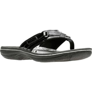 e9740a0a230 Quick View. Was  46.95.  9.39 OFF. Sale  37.56. Clarks Women s Breeze Sea  Flip Flop Black Synthetic Patent