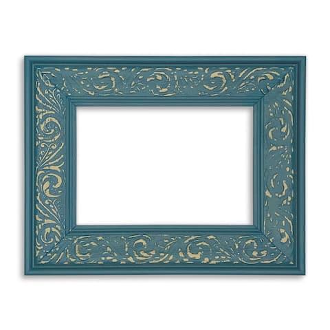Modern Baroque Teal Frame