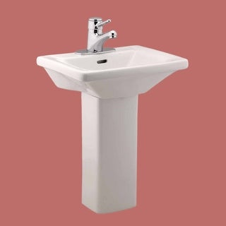 Decolav Vitreous China Square Pedestal Sink Free