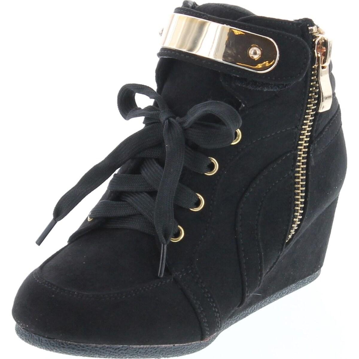 Hidden Wedge Sneakers - Black