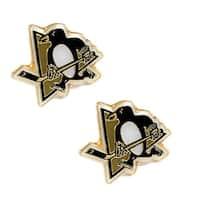 Pittsburgh Penguins Post Stud Logo Earring Set NHL Charm
