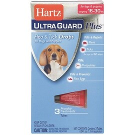 Hartz 16-30Lb Hug Pls F&T Drps