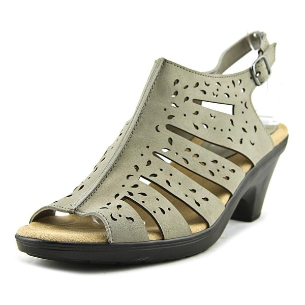 Easy Street Kamber Women W Open Toe Synthetic Gray Sandals
