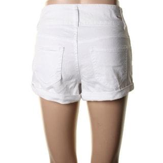 Dollhouse Womens Juniors High Waisted Cuffed Casual Shorts