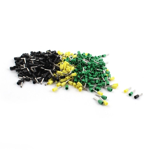 480Pieces E1008 1.0mm2 Wire Cable Yellow Green Black Insulated Ends Terminals
