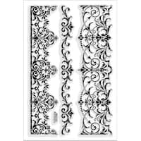 """Stampendous Perfectly Clear Stamps 4""""X6""""-Elegant Borders"""