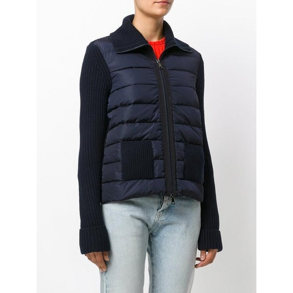 4fb161518823 Shop Moncler Tricot Navy Cardigan Jacket - Free Shipping Today - Overstock  - 18878840