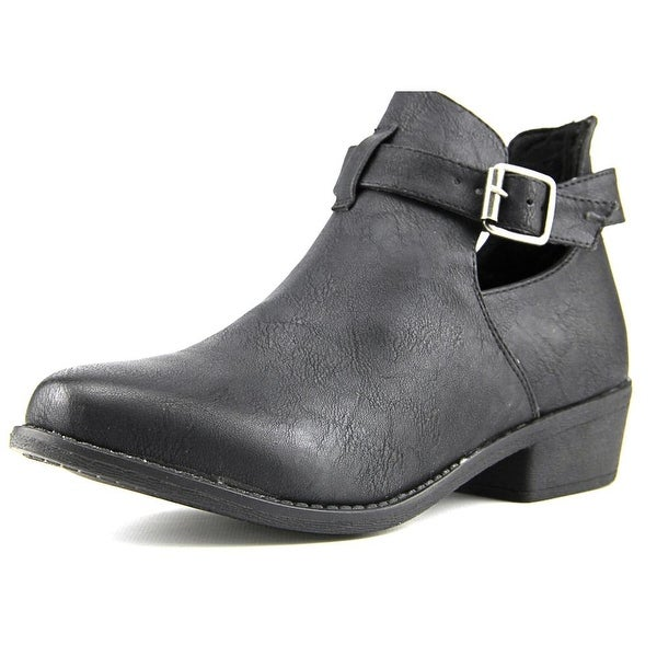 Vybe Dolly Women Round Toe Synthetic Black Bootie