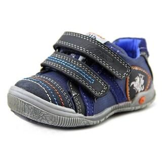 Beeko Elliott Toddler Round Toe Leather Blue Sneakers