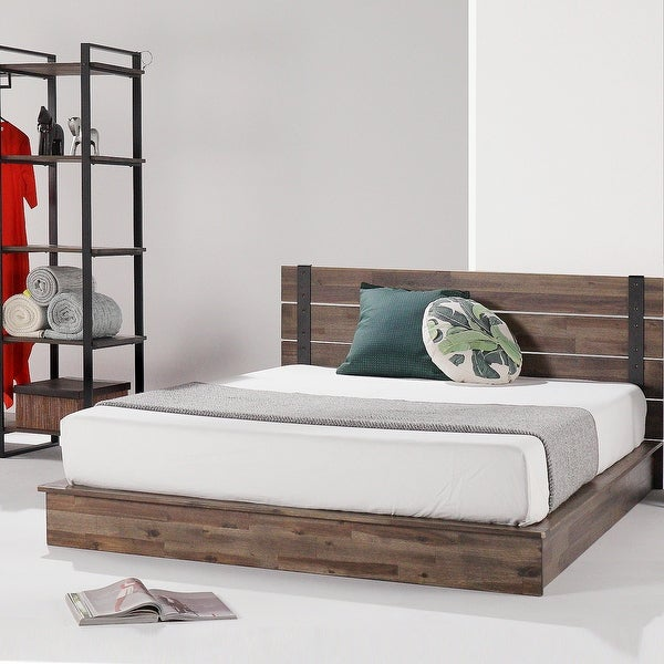 Priage by ZINUS Brown Metal and Wood Platform Bed Frame. Opens flyout.