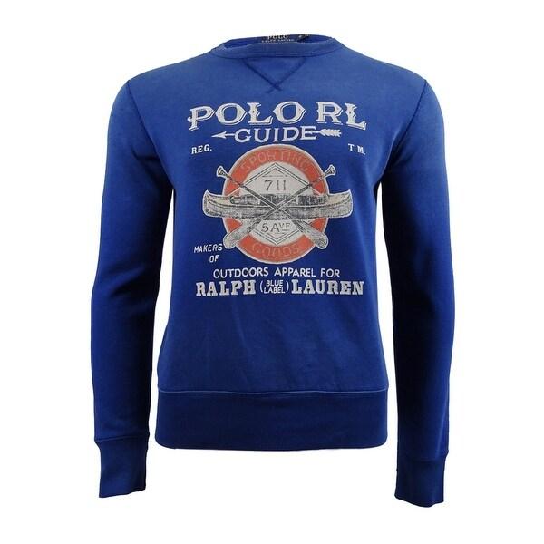 449dab08 Polo Ralph Lauren Men's Graphic-Print Fleece Sweatshirt (S, Club Royal) -  club royal - S