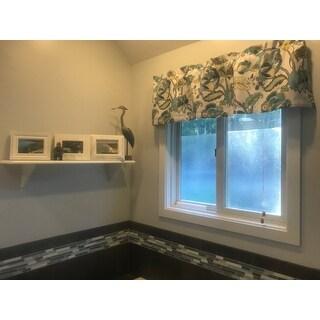 DriftAway Layla Classic America Style Floral Leaves Room Darkening Window Curtain Valance Rod Pocket