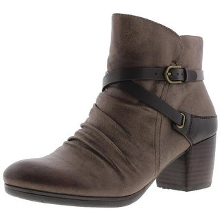 Baretraps Womens Kenidy Ankle Boots Distressed Faux Leather - 6 medium (b,m)