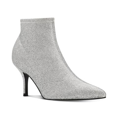 Nine West Womens pearce3 Fabric Pointed Toe Ankle Fashion Boots