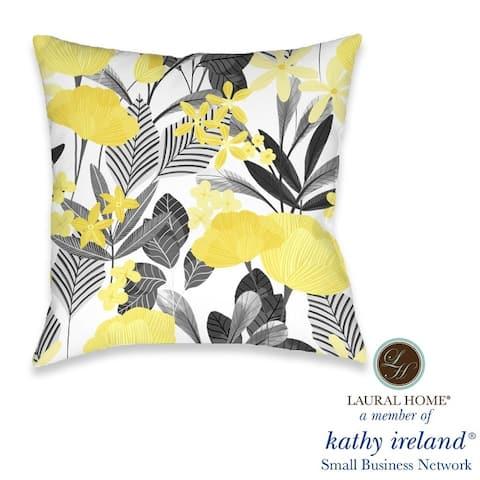 Laural Home kathy ireland® Small Business Network Member Illuminating Garden Decorative Pillow