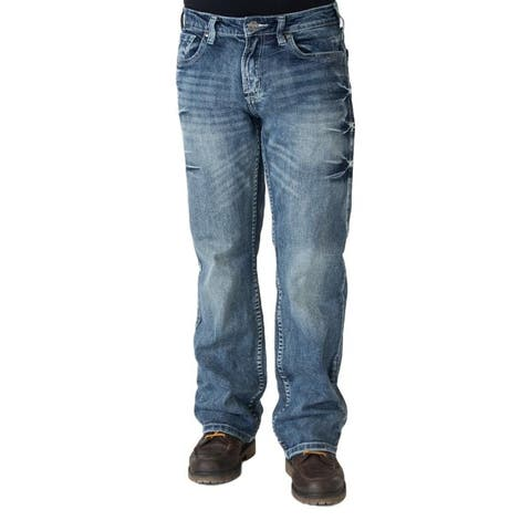 B. Tuff Western Jeans Mens Monster Mike Bootcut Med Wash