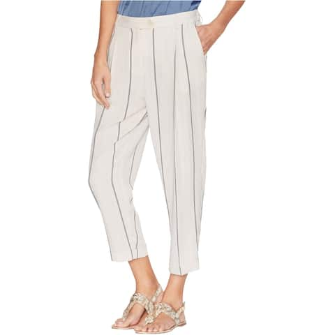 Vince Camuto Womens Pleated Casual Trouser Pants, White, 12